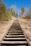 Wooden stairs uphill Stock Image