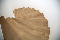 Twisted wooden stairway Stock Photography