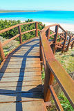 Wooden stairway to the beach Royalty Free Stock Photo