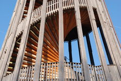 Wooden stairway in tower Royalty Free Stock Photo