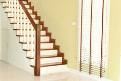 The wooden stairway Royalty Free Stock Image