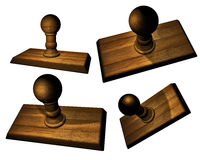 Wooden stamp bases Stock Image