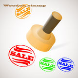 Wooden stamp SALE Royalty Free Stock Photo