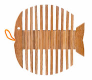 Wooden stand as skeleton fish Stock Photos
