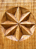 Wooden star Stock Image