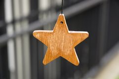 Wooden star stock photography