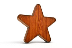 Wooden star Royalty Free Stock Images