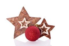 Wooden star decoration Stock Photo