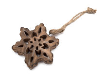 Wooden Star Decoration Royalty Free Stock Photography