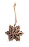 Wooden Star Decoration Stock Photos