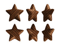 Wooden star solid wood isolated Royalty Free Stock Photo