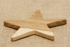 Wooden Star Royalty Free Stock Photos