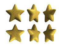 Wooden star solid wood isolated Royalty Free Stock Photos