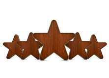 Wooden stars Stock Images