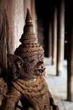 Wooden statue, Bagaya Monastery, Burma Royalty Free Stock Photo