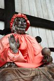 Wooden statue of Buddha Binzuru. Royalty Free Stock Photos