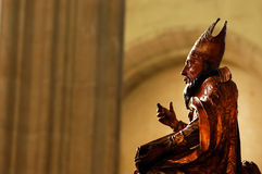 Wooden statue in a catholic church Royalty Free Stock Photo
