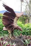 A wooden statue of eagle Stock Image