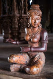 Wooden statue of Goddess woman in Sanctuary of Truth,  Pattaya Royalty Free Stock Images