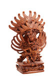 Wooden statue of the Hindu god Stock Photo