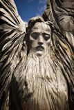 Wooden statue of the idol. royalty free stock photos