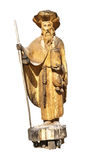 Wooden statue of a local saint Royalty Free Stock Photos