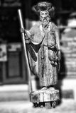 Wooden statue of a local saint Royalty Free Stock Image