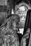 Wooden statue of the parish church of San Giorgio Stock Image