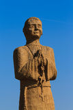Wooden statue saint Royalty Free Stock Photo