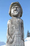 Wooden statue in ski centre Smrekovica, Slovakia Royalty Free Stock Image