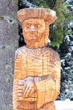 Wooden statue, Slovakia Royalty Free Stock Image