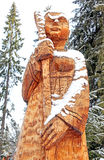 Wooden statue, Slovakia Stock Images