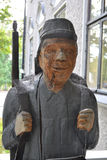 Wooden statue of a soldier Stock Photos