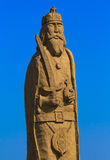 Wooden statue warior Royalty Free Stock Photo