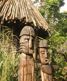Wooden statues of Aboriginal Royalty Free Stock Images