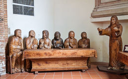 Wooden statues in a church. Stock Photo