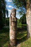 Wooden statues Stock Image