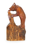 Wooden statuette of bear Royalty Free Stock Photo
