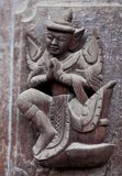 Wooden statuette in Shwenandaw Kyaung, Myanmar Stock Photo