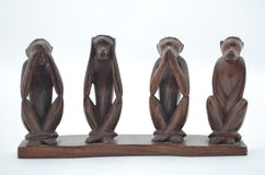 Wooden statuette Royalty Free Stock Images