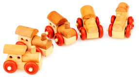Wooden steam-engines Stock Image