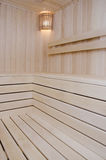 Wooden steam room or sauna. For a healthy lifestyle Royalty Free Stock Images