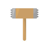 Wooden steel hammer kitchen and cooking utensils Stock Images