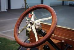 Wooden Steering Wheel. What nice craftsmanship on this steering wheel Royalty Free Stock Photo