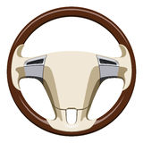 Wooden steering wheel Royalty Free Stock Photos