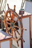 Wooden steering wheel Royalty Free Stock Photos