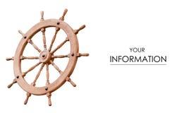 Wooden steering wheel pattern stock photography