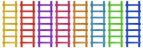 Wooden step ladder - colorful Stock Images