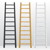Wooden step ladders Stock Images