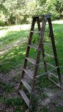Wooden stepladder Stock Images